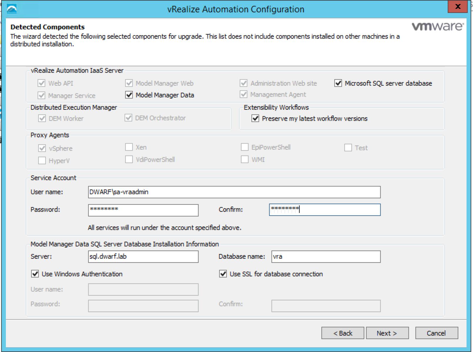 vRA 7.0.1 IaaS Installation – 6