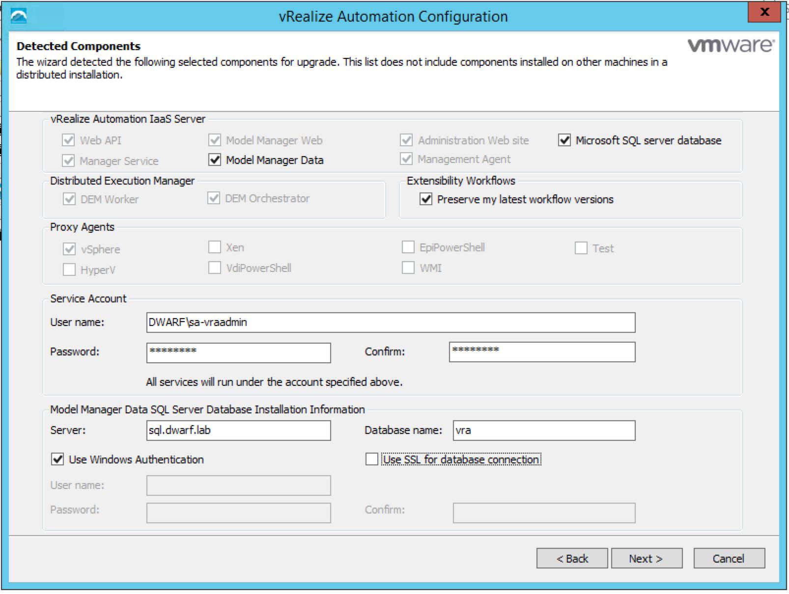vRA 7.0.1 IaaS Installation – 8