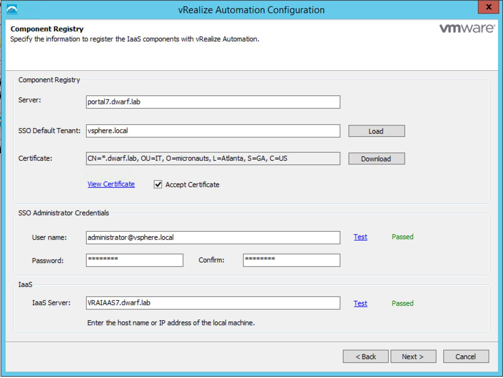 vRA 7.0.1 IaaS Installation – 9